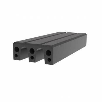 Fendertec marine fendering - Rubber Composite M-fender block with UHMWPE Top layer