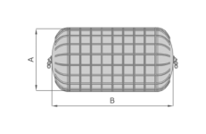 Pneumatic fender-ribbed size standard